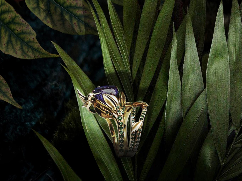кольцо  Танзанитовый нектар